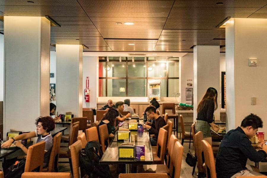 Chartwells, a division of Compass Group, will replace Aramark as NYU's dining service provider starting this summer. Recently, Aramark revamped Third North Courtyard Cafe (pictured above) to Harvest Table in its attempts to continue its contract. (Photo by Tony Wu)