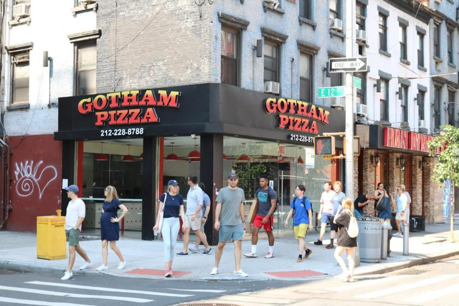 Gotham Pizza on E 12th Street and 3rd Avenue, which is close to Founders and Third North, has gone out of business.