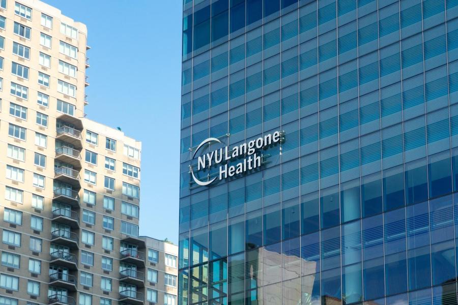 The NYU Langone Health center, located at 550 1st Avenue. (Photo by Tony Wu)