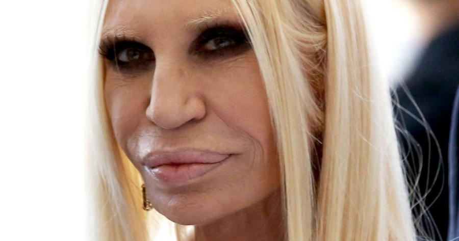 Donatella+Versace%2C+chief+designer+of+the+Versace+Group%2C+will+stay+after+Michael+Kors+acquired+the+company.
