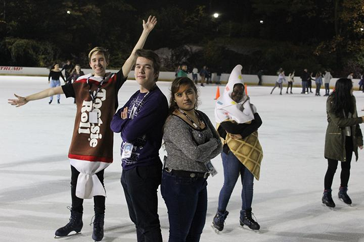 Students during IRHCs annual Flurry ice skating event at Wollman Rink on Tuesday. (Courtesy of IRHC)