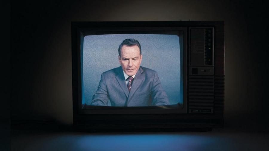 Bryan Cranston in Network, anadaptation ofthe 1976 film. (Courtesy of the National Theatre)
