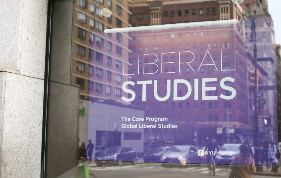 The entrance to the NYU Liberal Studies Offices, located at 726 Broadway. (Staff Photo by Julia McNeill)