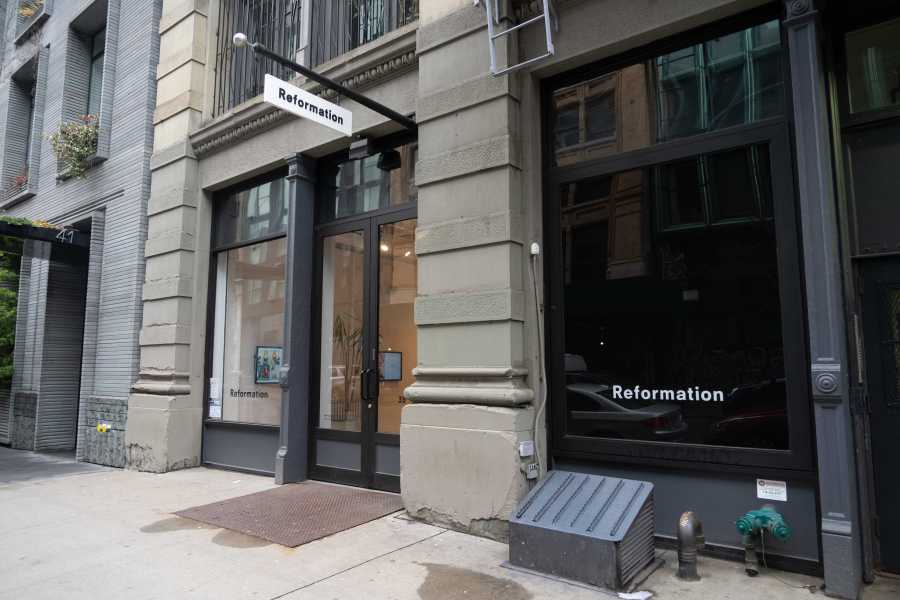 The Reformation storefront in Soho. (Staff Photo by Alina Patrick)