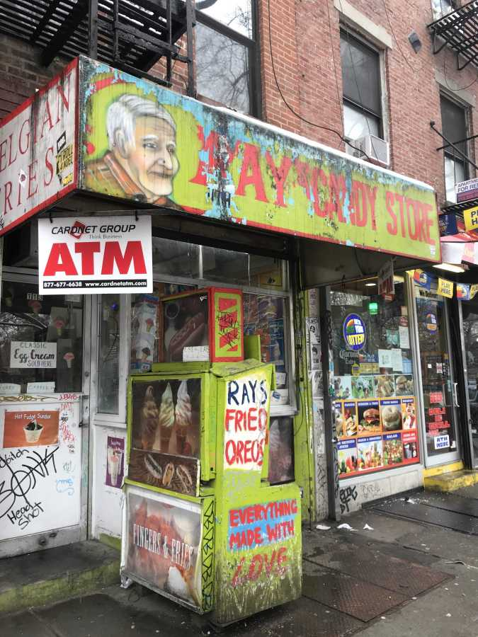 Ray's Candy Store, a tiny, hidden place near Tompkins Square Park. (Photo by Elaine Chen)