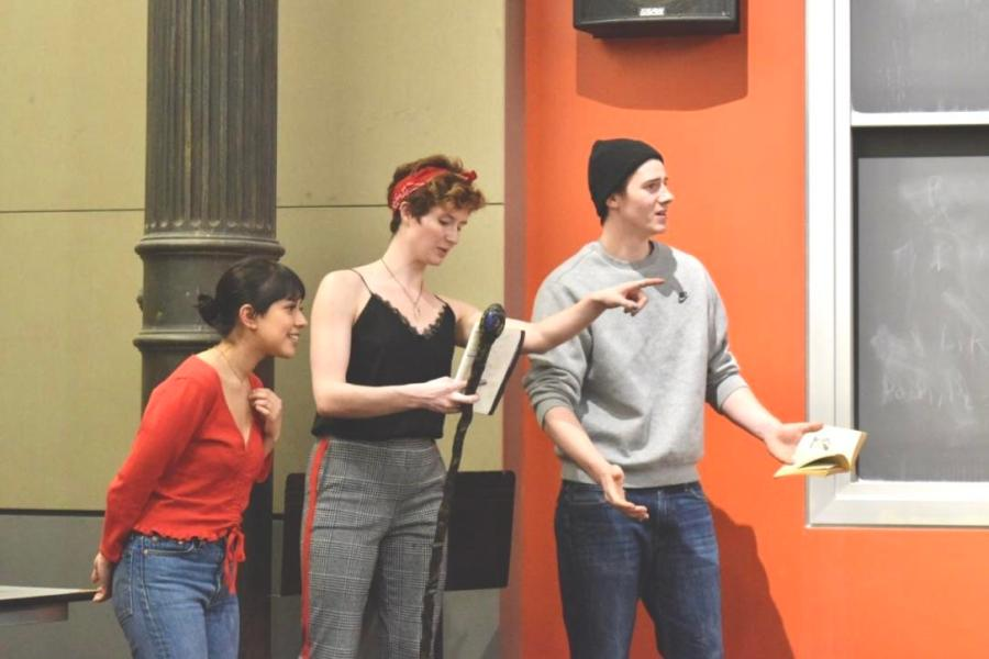 From left to right, Zuleyma Sanchez, Sarah Runda and Hartley Bannister-Parker in CAST's production of