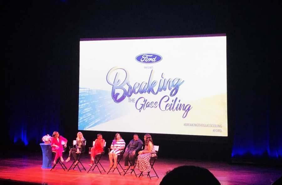 A panel speaks the Breaking the Glass Ceiling event at NYU Skirball (Staff Photo by Mansee Khurana).