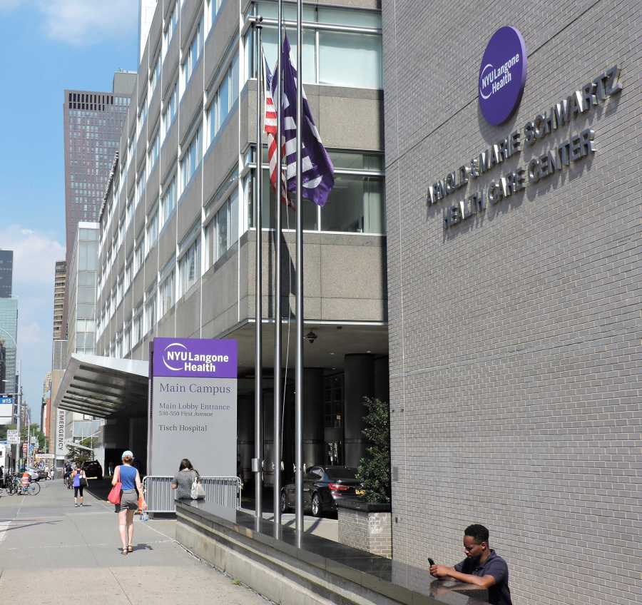 NYU Langone main campus. A Langone doctor accused of soliciting sex from a minor got fired. (Staff Photo by Nina Schifano)
