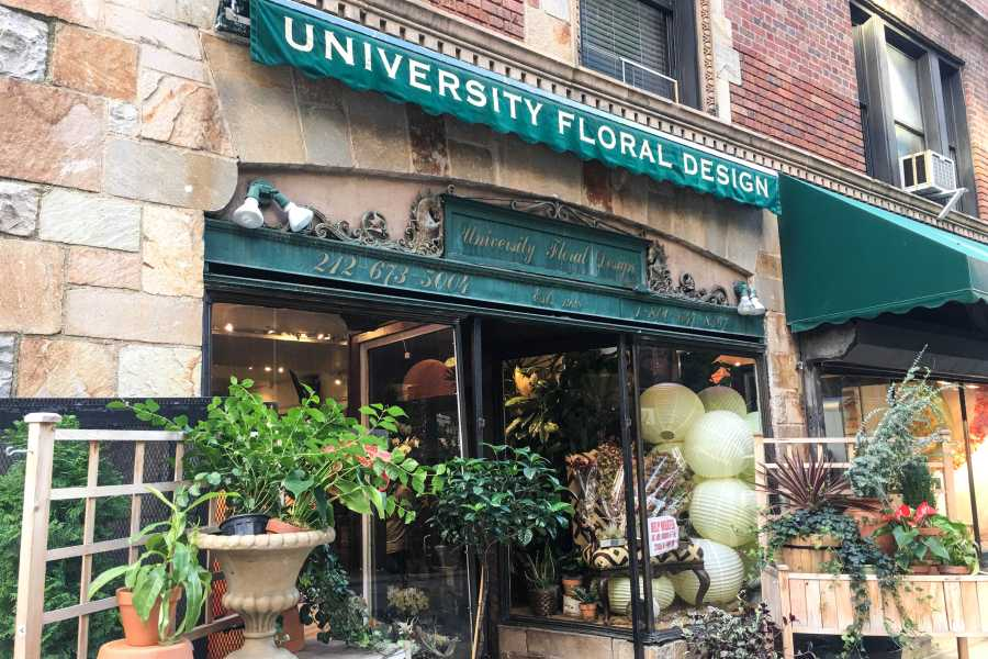 University Floral Design, at 51 University Place, sells both elaborate bouquets and easy-to-maintain household plants. (Photo by Cloris Yang)