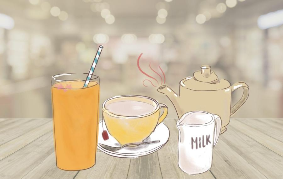 Tea is a great alternative source of caffeine for students that don't enjoy coffee. (Staff Illustration by Marva Shi)
