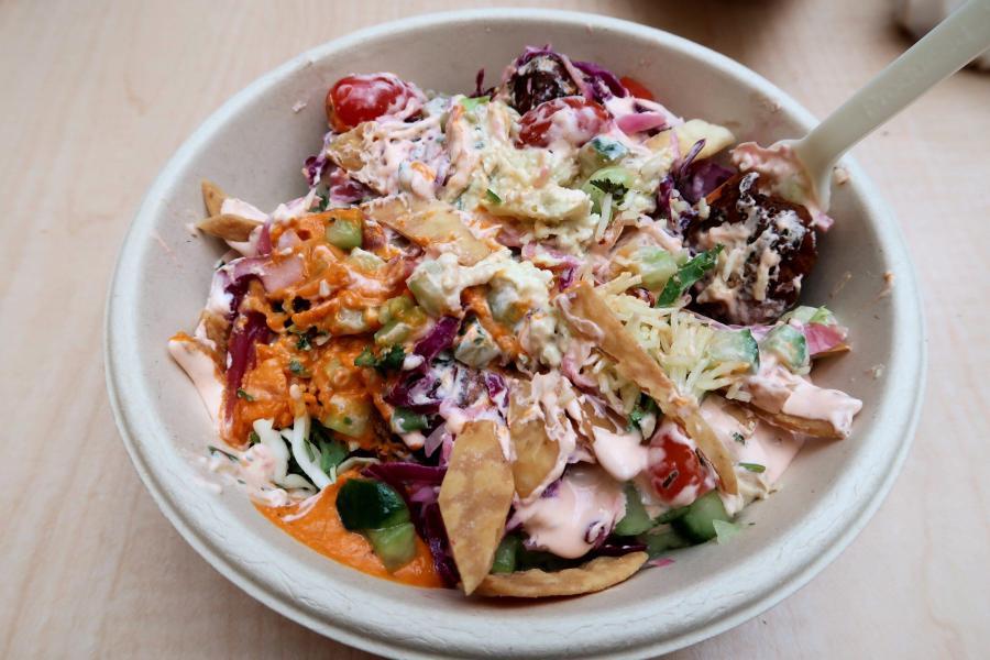 Cava is a Mediterranean salad-bar style restaurant. (Staff photo by Chelsea Li)