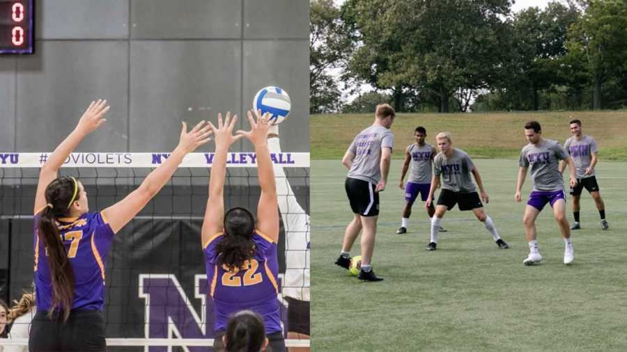 The women's softball team and the men's soccer team will be advancing to the Eastern College Athletic Conference Division III Championship Tournament. (Staff Photos by Sam Klein and Marva Shi)