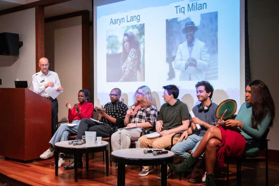 """On Monday, the NYU LGBTQ+ Center hosted a panel discussion on the term """"TERF"""" and how to make NYU more trans-inclusive. (Staff Photo by Marva Shi)"""