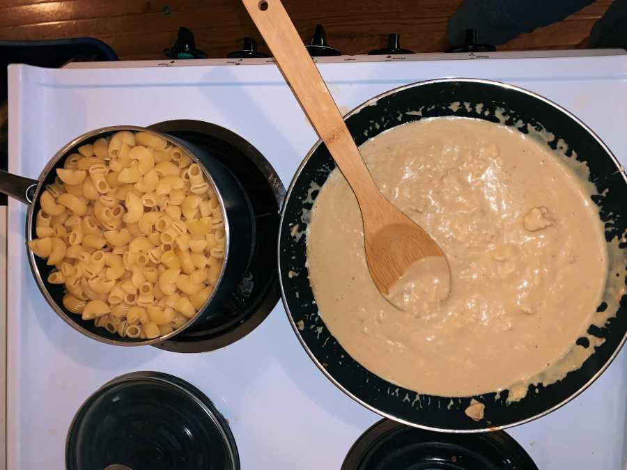Pictured above is homemade vegan mushroom mac and cheese. Perfect for your winter cravings. (Photo by Priya Subberwal)