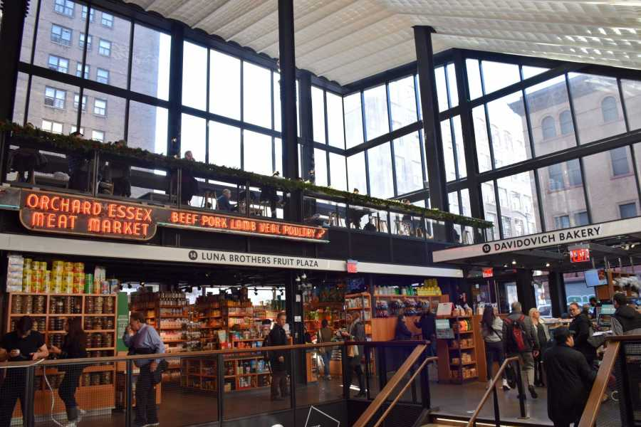 The ground floor of Essex Market is a large workspace with plenty of natural light. (Photo by Sabrina Choudhary)