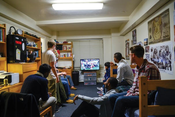 Throw the best Super Bowl party at one of the most unathletic school in the country. (Photo by Chris Klemens)