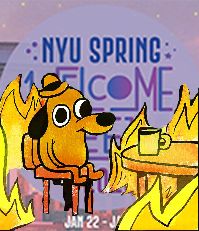 Maybe the spring semester will be better. (Illustration by Jake Capriotti)