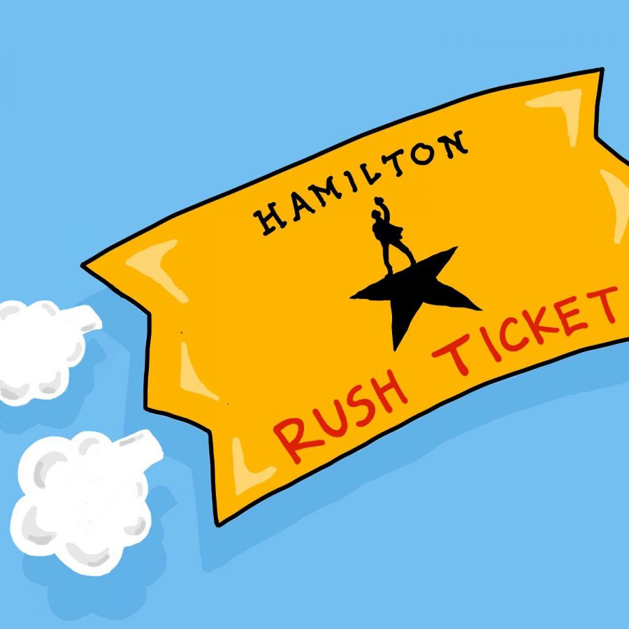 Be on the lookout for rush ticket and take advantage of New York City's art scene. (Illustration by Min Ji Kim)
