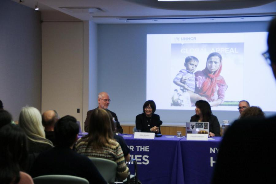 CAS professor David Ludden discusses conceptual approaches to borders at Border Talks. This is a unique series seeking to explore engagements with boundary closure, opening and acts of resistance. (Staff photo by Alex Tran)