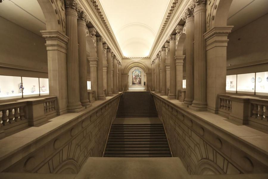 As I walked up the staircase, the hallway echoes loudly with each step I take.