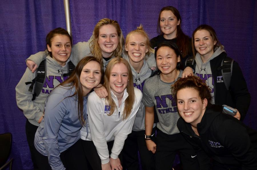 Steinhardt junior Haley Will, back row center, is ready to make a comeback on the basketball court. Will has been injured during most of her career at NYU, but her passion for the sport won't let that hold her back. (Photo courtesy of Haley Will)
