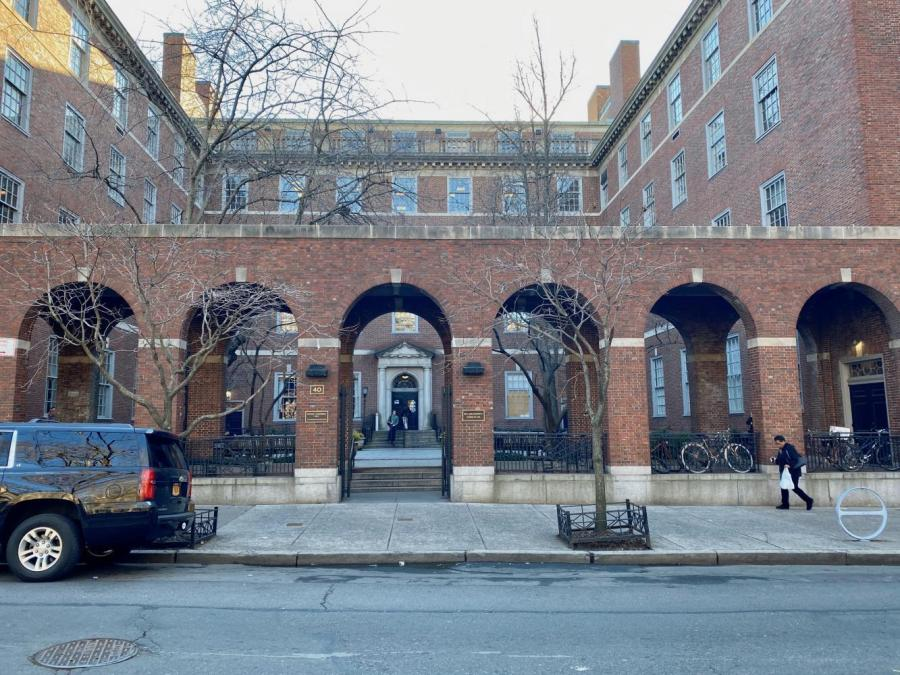 The Vanderbilt Hall on Washington Square S hosts the NYU Law School. An NYU Law student has tested positive for COVID-19 in an email sent by the Dean to students who were in class with the student.