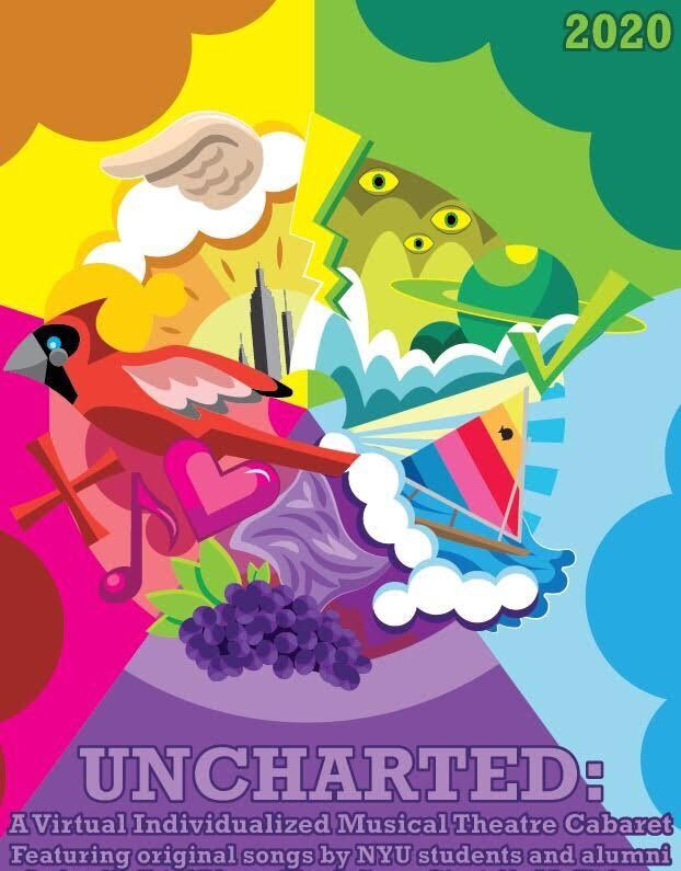 """The Gallatin Theatre Troupe will present their new production """"Uncharted: A Virtual Musical Theatre Cabaret"""" over Zoom. The show features original work and the team hopes to bring their art to a larger audience. (Illustration by Josh Finkel)"""