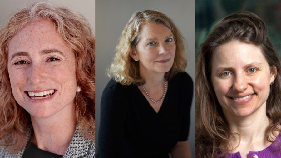 Last week the Guggenheim Foundation announced the Guggenheim Fellows for 2020. From left to right, NYU Professors Melissa Schwartzberg, Jenny McPhee, and Kim Phillips-Fein received fellowship awards. (Staff Illustration by Chelsea Li)