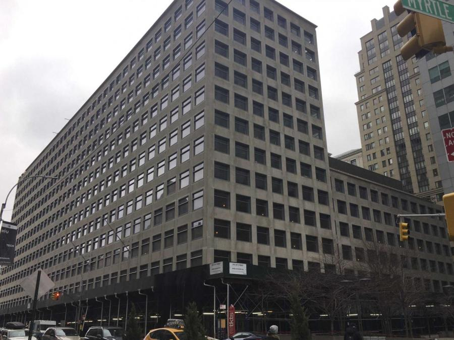 370 Jay St. served as the former headquarters of the Metropolitan Transport Authority (MTA) and now houses instruction facilities for Tisch, Tandon and Steinhardt programs. (Photo by Htoo Min)