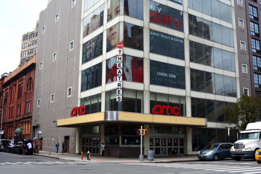 The AMC movie theater on 3rd and East 11th used to have people lined up around the block for movie premieres. Now, after many long months, the question of whether or not to reopen movie theaters in New York is still uncertain. (Staff Photo by Manasa Gudavalli)
