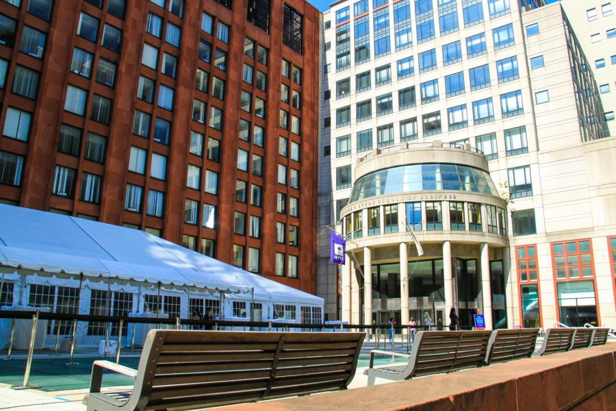 NYU's COVID testing site is located at the Gould Plaza. Similar to other universities around the country,