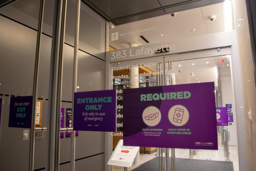 NYU's Office of Global Programs, located at 383 Lafayette St., opened its Fall 2021 Study Away Application. However, the uncertainty of the future of the pandemic has left aspects of NYU's study away programs tentative. (Staff Photo by Manasa Gudavalli)