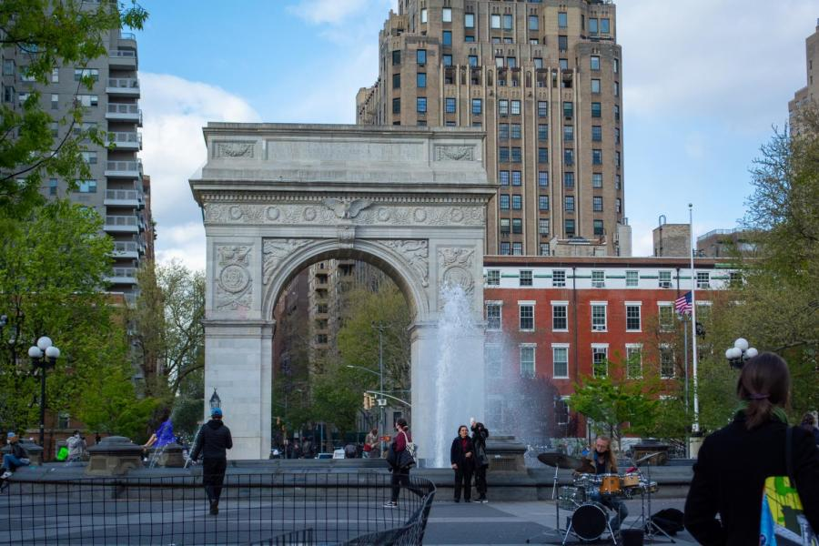 For the 2020-2021 school year, NYU reopened its Washington Square campus with a combination of hybrid, in-person, and fully remote classes. This nontraditional experience has given NYU first-year students some unique college memories. (Staff Photo by Manasa Gudavalli)