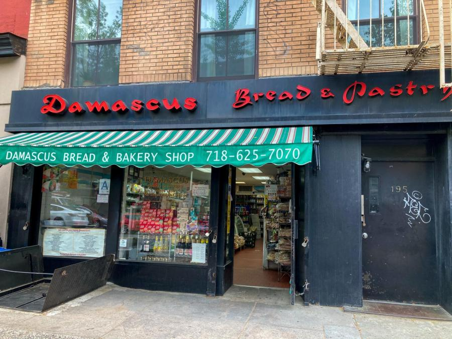 Damascus Bread and Pastry Shop, located on 195 Atlantic Avenue in Brooklyn, is a Syrian bakery known for its flatbreads, pastries, dips, and spreads.  This bakery has been serving its community since its opening in 1928. (Staff Photo by Gabby Lozano)