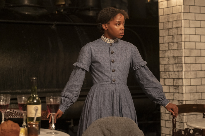 """""""The Underground Railroad,"""" directed by Academy Award Winner Barry Jenkins, is a historical drama miniseries set in the Antebellum South. As Cora (Thuso Mbedu) travels northbound, this miniseries portrays the atrocity of American slavery while showcasing the power of perseverance. (Photo by Kyle Kaplan, Courtesy of Amazon Studios)"""