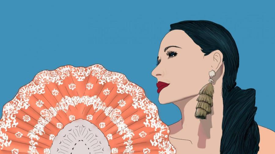 """Kacey Musgraves released her fifth studio album """"star-crossed"""" on Friday, Sept. 10. In the album, Musgraves dives into the conflicting feelings of love and hate and eventually the acceptance of both. (Illustration by Aaliya Luthra)"""