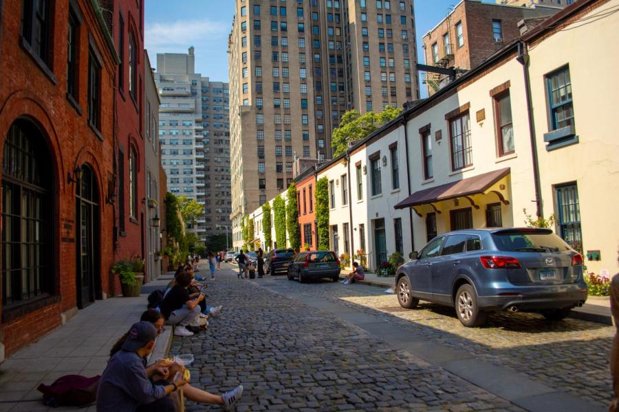 The Washington Mews Language Houses are located between Fifth Avenue and University Place. (Staff Photo by Manasa Gudavalli)
