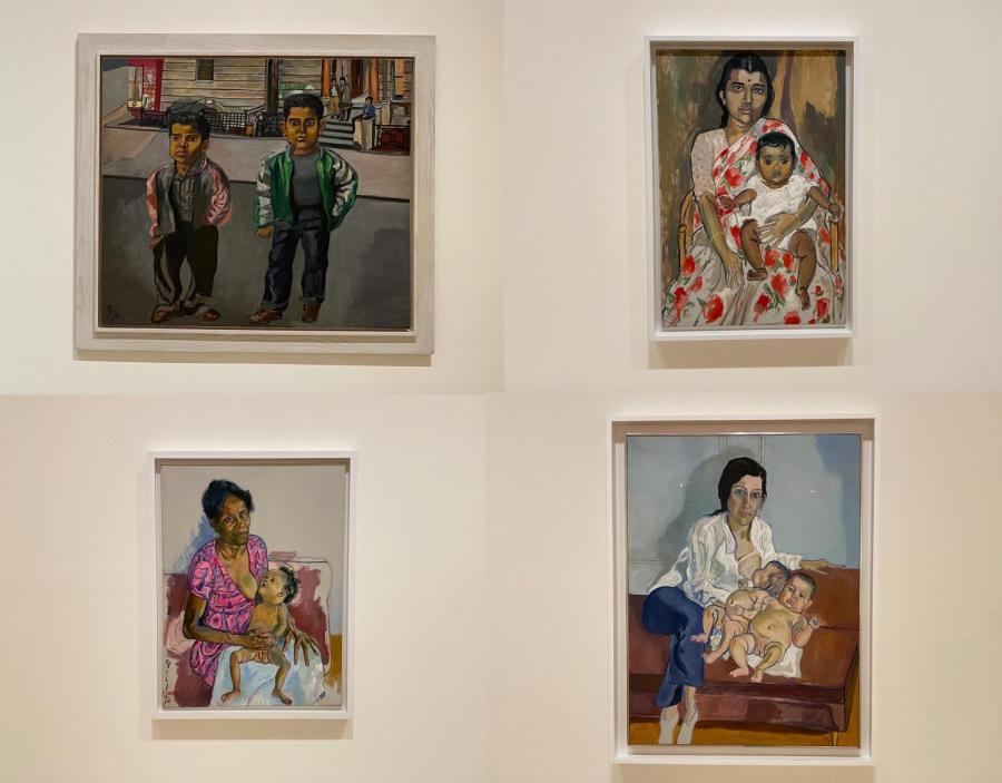 Artist Alice Neel chose unconventional subjects for her paintings. A collection of her works is currently on display at the Guggenheim in Bilbao. (Photo by Elizabeth Crawford)