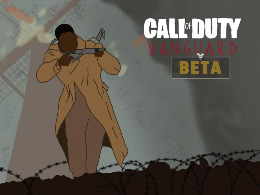 """""""Call of Duty: Vanguard,"""" the newest installment in the """"Call of Duty"""" series, will be released on Nov. 5. The multiplayer beta, which allowed players to try the game's multiplayer mode before release, proves to be promising despite a few issues. (Staff Illustration by Manasa Gudavalli)"""