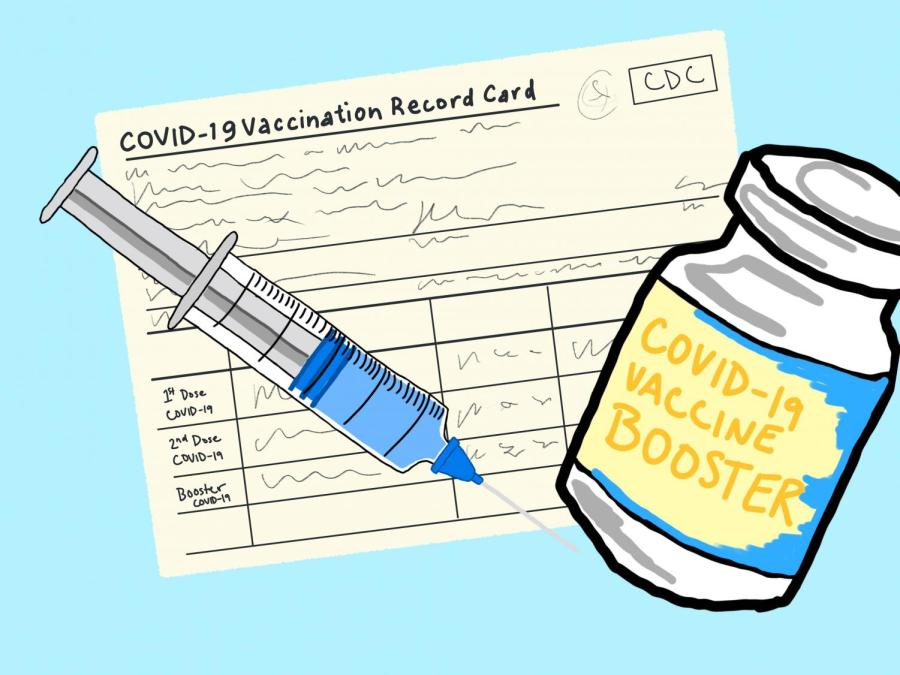 On Oct. 4, the CDC recommended a booster shot of the Pfizer-BioNTech for those who received their second dose at least six months ago. This left members of the NYU community wondering who is eligible to get their third shot. (Staff Illustration by Manasa Gudavalli)