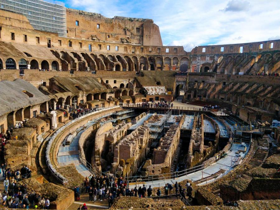 The inside of the Colosseum, which was the largest amphitheater in the Ancient Roman world. NYU's course syllabi, and Western academia in general, neglect the study of non-white cultures in favor of Roman and Greek art and history. (Staff Photo by Arnav Binaykia)