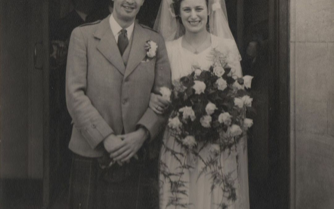 Post War wedding of John and Joy