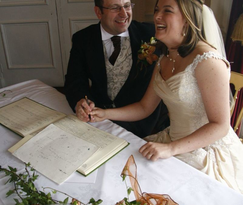 Our Wedding - Signing of register