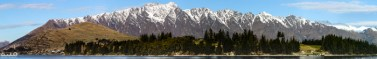 A panoramic sitch-together I created of Remarkables mountain range in Queenstown