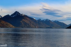 Walter Peak and Lake Wakatipu near the end of the day.