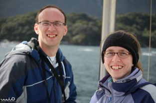 Philip and Jessica all smiles on the Doubtful Sound cruise
