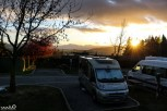 Sunrise at our campervan campground in Wanaka