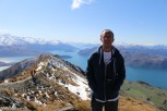 Philip at the top of the Roys Peak Track in Wanaka