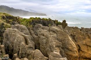 The pancake rocks of Punakaiki in Paparoa National Park, New Zealand.