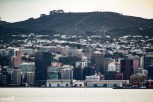 A closer view of downtown Wellington, New Zealand as our ferry approaches the final docking site.